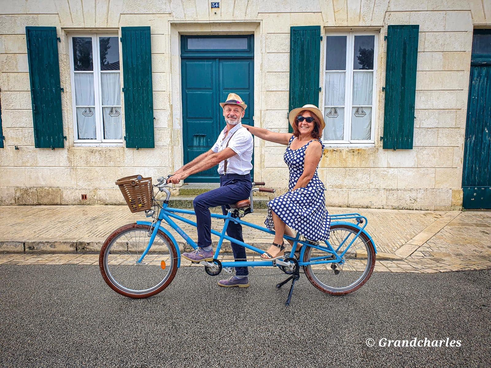 vélo tandem - Ile de Ré - beach bikes