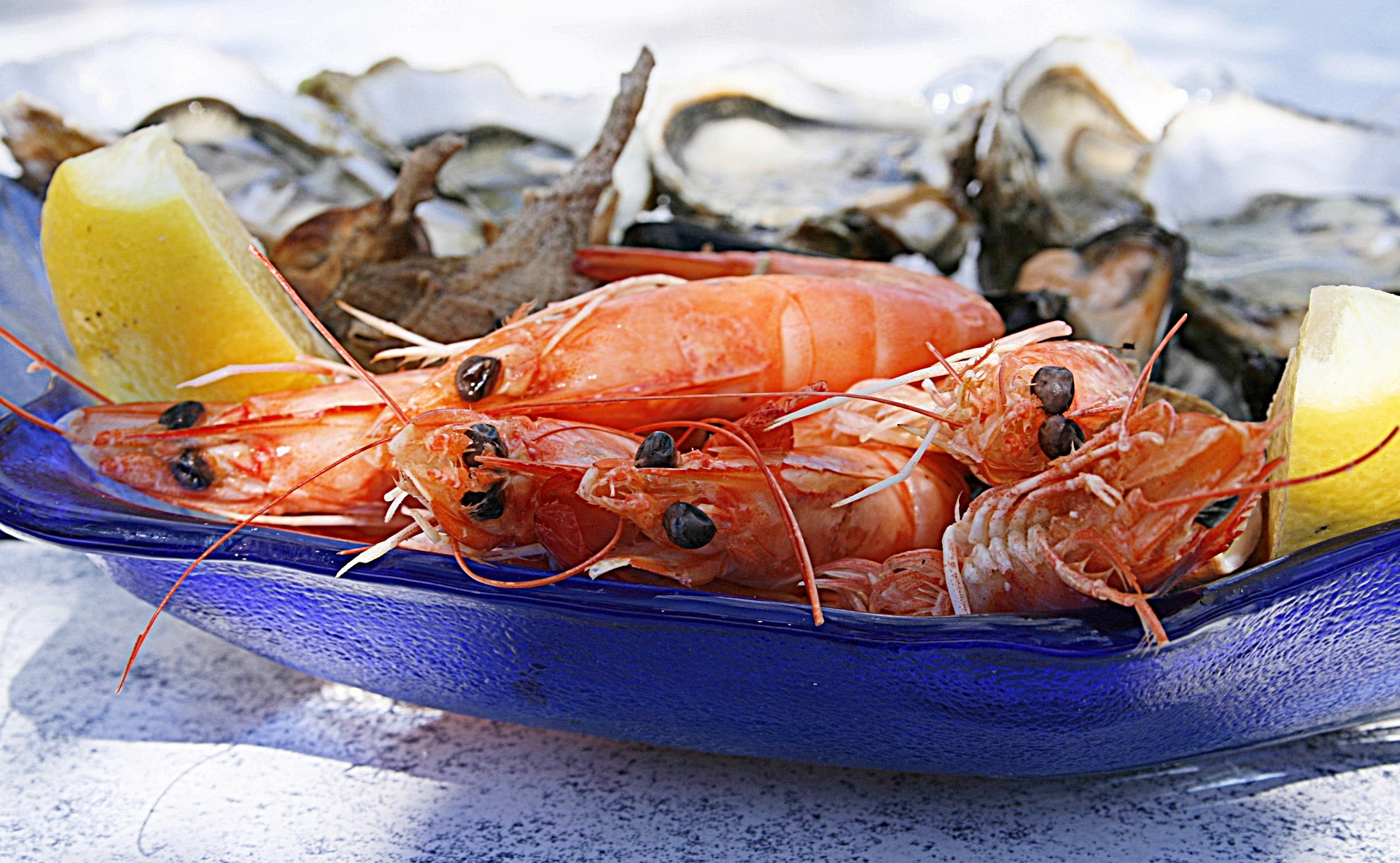 fruits de mer restaurant saint Trojan les bains